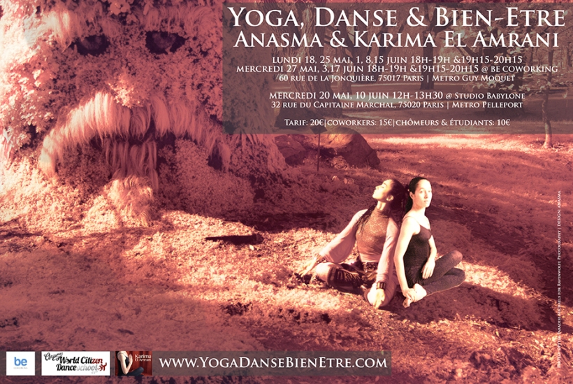 anasma karima el amrani yoga dance well being  danse bien etre be coworking studio bleu mai - juin 2015
