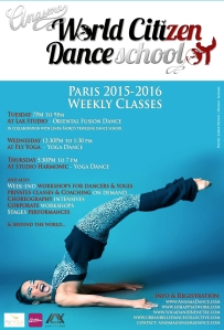 ANASMA World Citizen Dance School PARIS 2015-2016 weekly classes blue