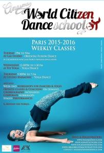 ANASMA World Citizen Dance School PARIS 2015-2016 weekly classes blue
