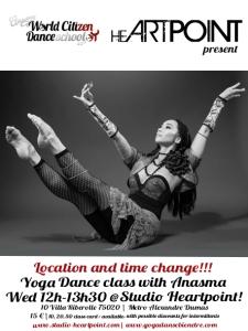 Anasma World Citizen Dance School 2015-2016 cours paris class Yoga danse bien être HEARTPOINT